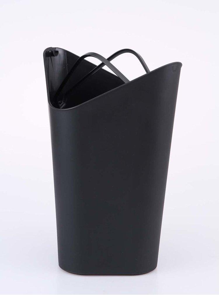 Čierny rohový odpadkový kôš Umbra
