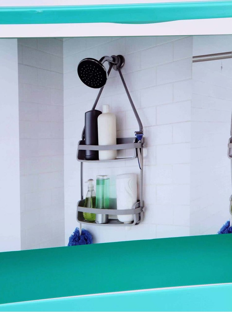 Tyrkysový držiak na toaletné potreby Umbra Flex Caddy