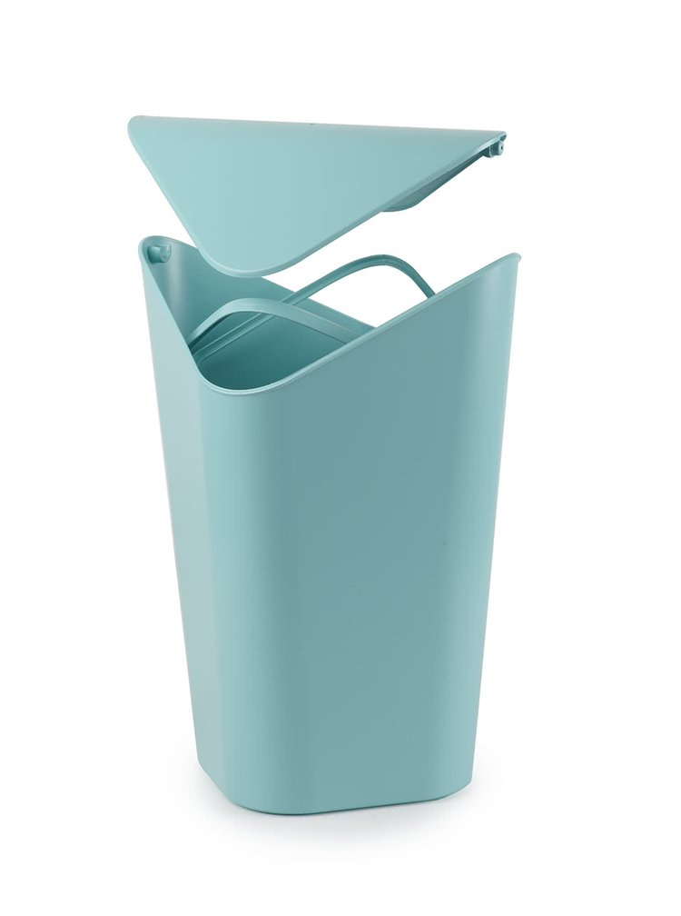 Tyrkysový rohový odpadkový kôš Umbra