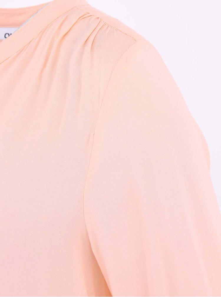 Bluză cu nasturi ONLY Fallow culoarea caisei