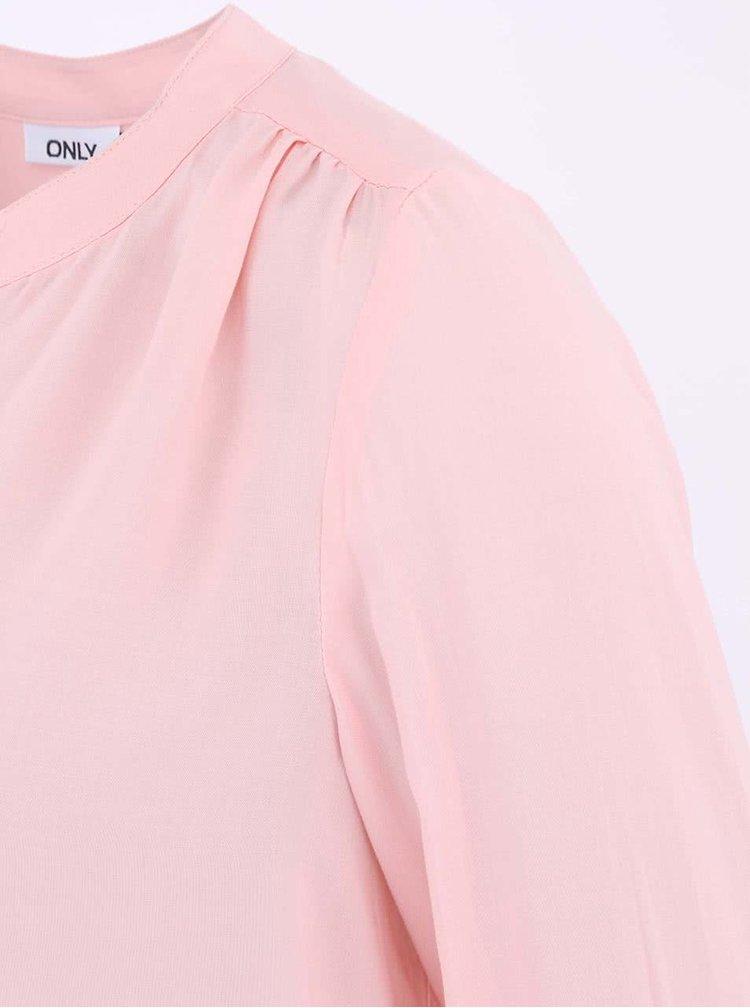 Bluză cu nasturi roz deschis ONLY Fallow