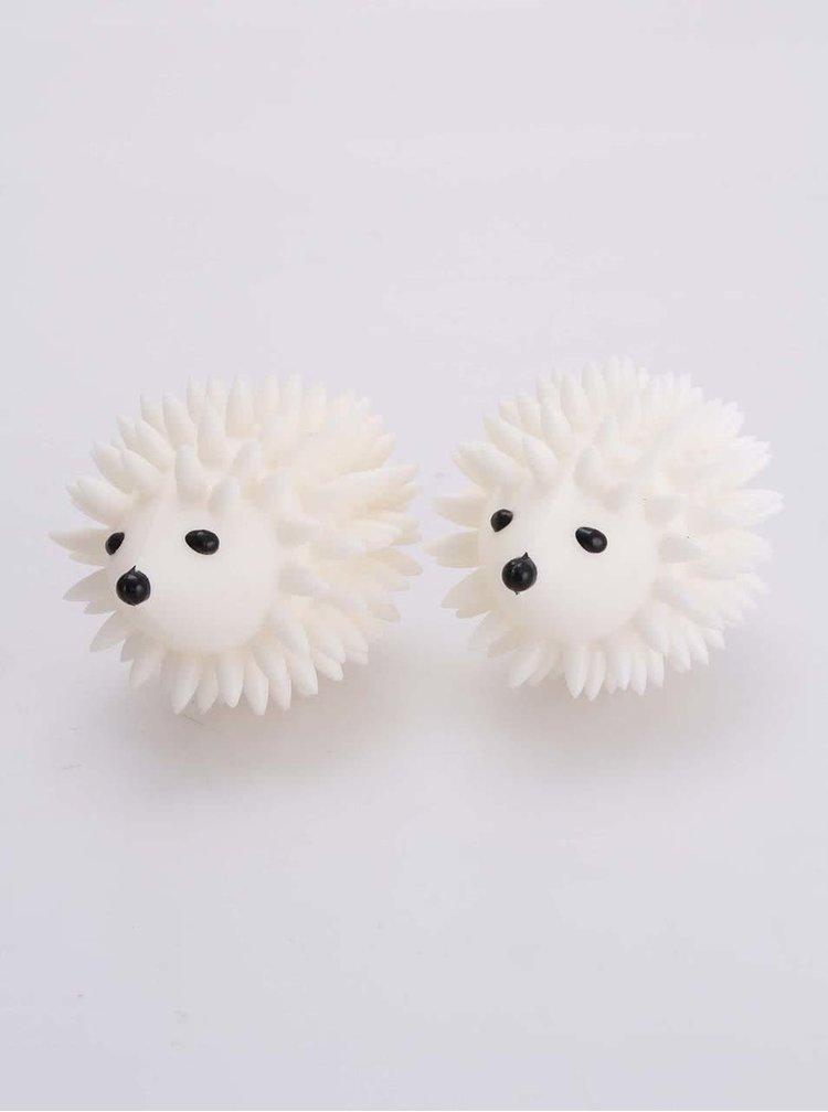 Figurine albe sub formă de arici pentru uscător KIKKERLAND