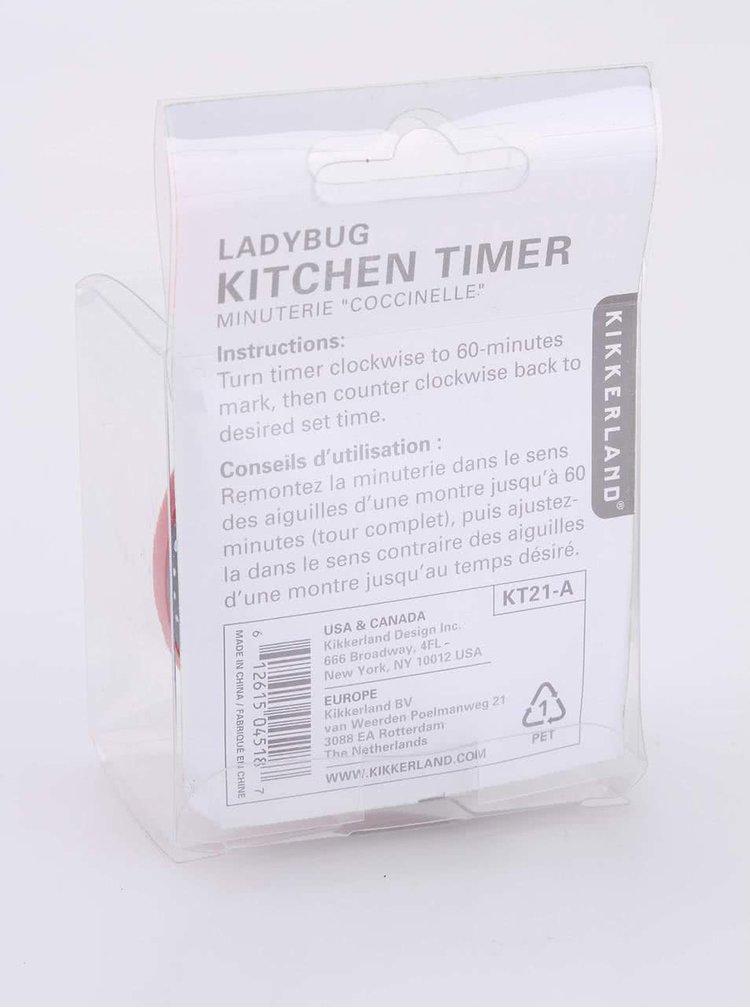 Červená kuchyňská minutka Kikkerland Beruška