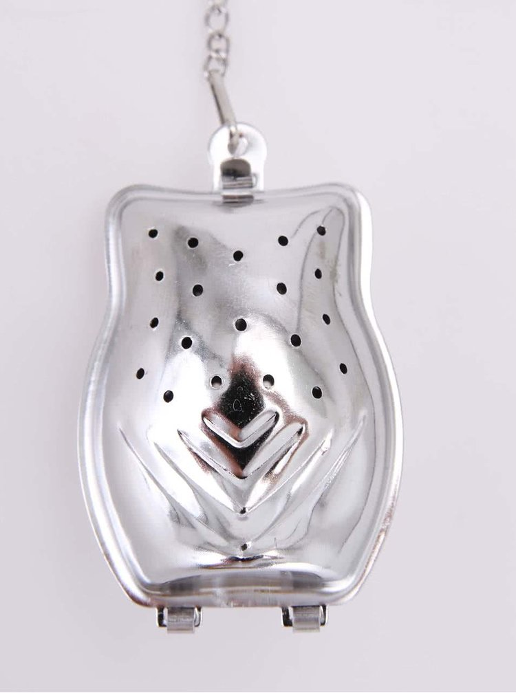 Kikkerland Silver Owl-Shaped Tea Infuser