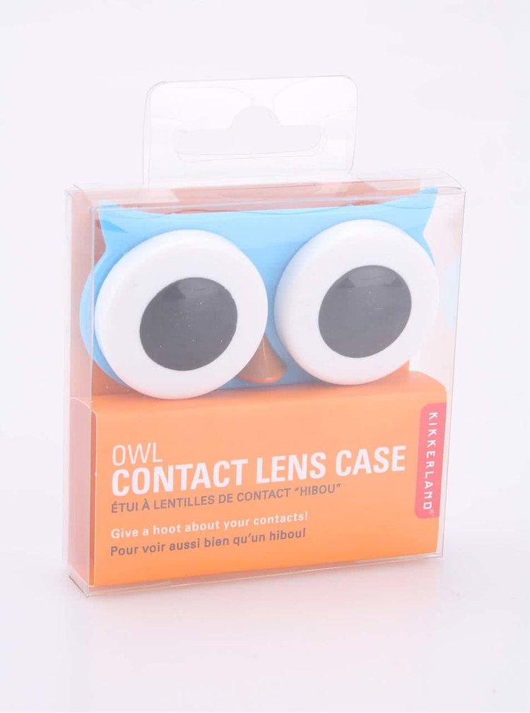 Cutie pentru lentile de contact bufnita albastra - KIKKERLAND