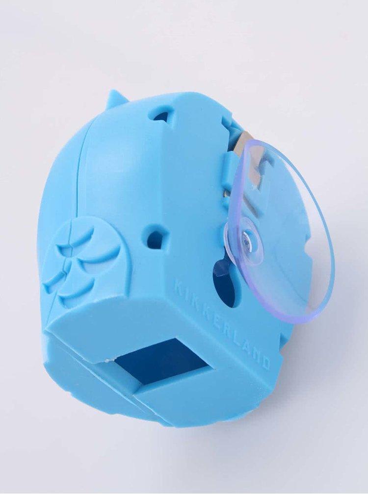 Modrý držiak na zubnú kefku Kikkerland Sova