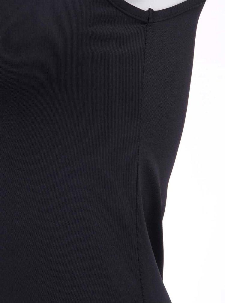 Černé tílko s úzkými ramínky sorbet Lisa