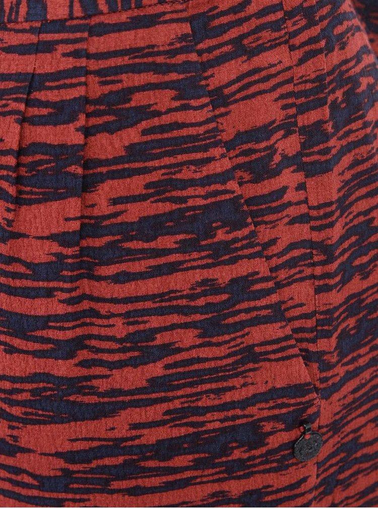 Pantaloni negru & rosu cu print pentru femei - Scotch & Soda