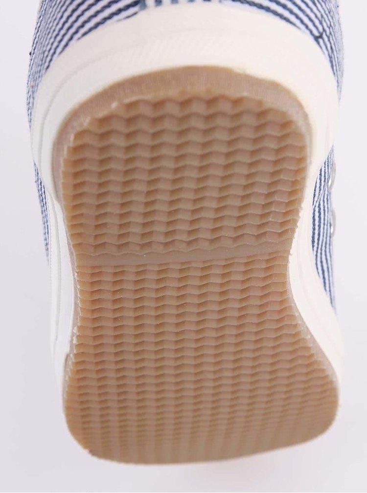 Plátené unisex tenisky s modrými pruhmi Faguo Oak