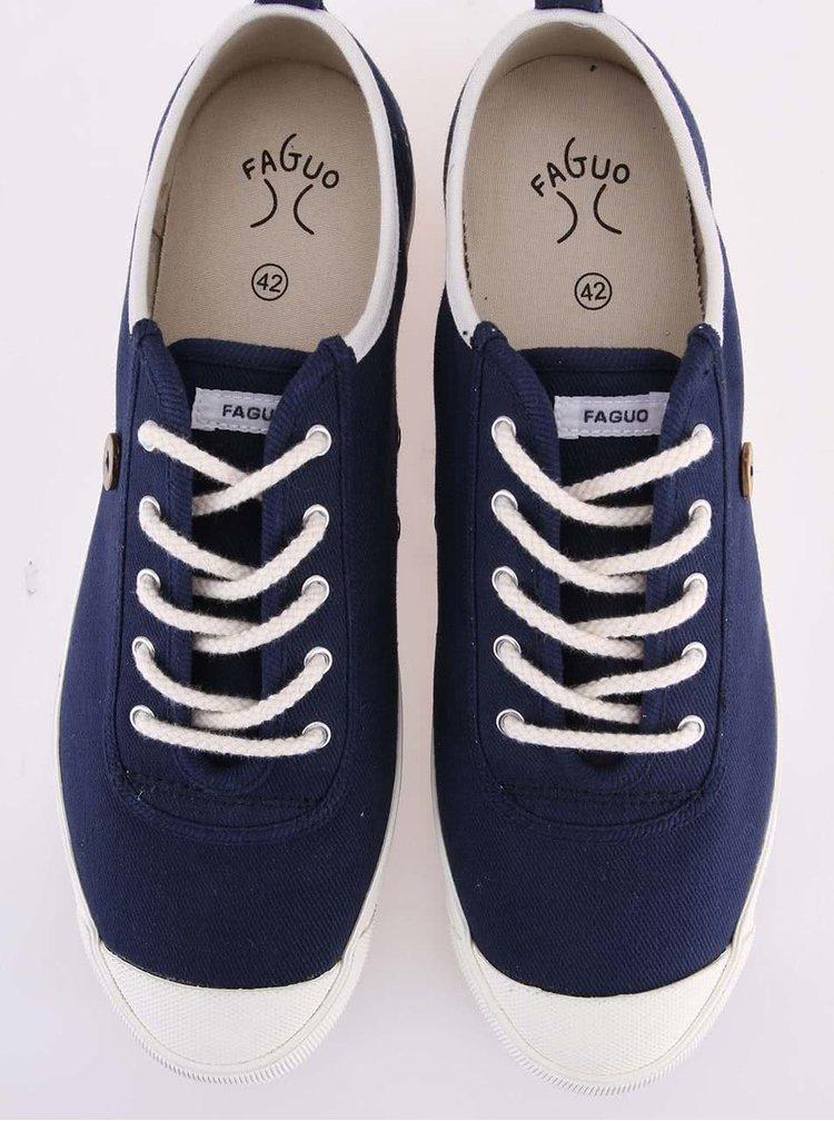 Modré pánské plátěné tenisky Faguo Oak