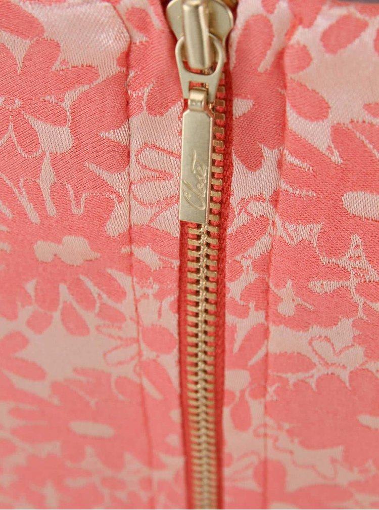 Zlato-meruňkové květované šaty Closet