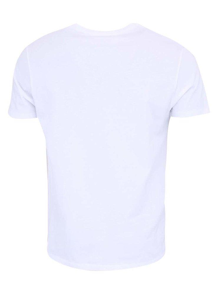 Bílé pánské triko s potiskem Voi Jeans Grade