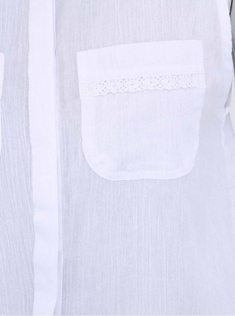 Cămașă albă de damă Bellfield Josie cu șliț în spate