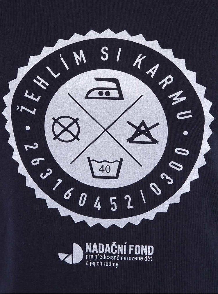 """""""Dobré"""" modré dámské tričko pro Nadační fond pro předčasně narozené děti a jejich rodiny"""