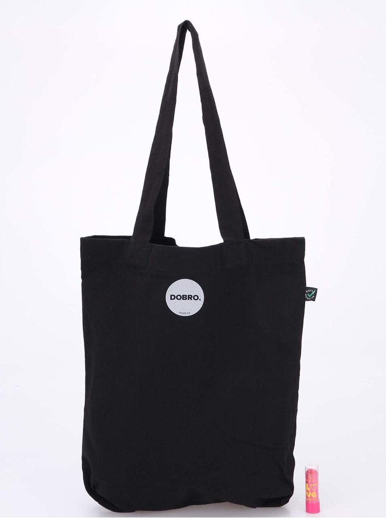 """""""Dobrá"""" stříbrno-černá taška pro Nadační fond pro předčasně narozené děti a jejich rodiny"""