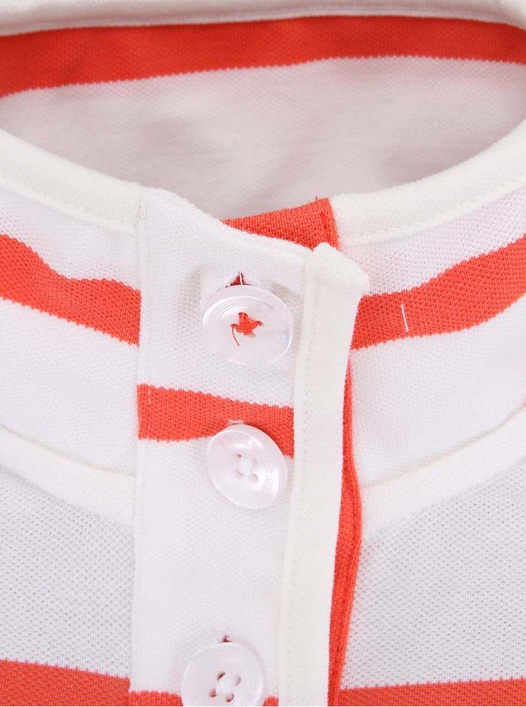Korálovo-biele dámske pruhované tričko s dlhým rukávom Brakeburn Ferrybridge
