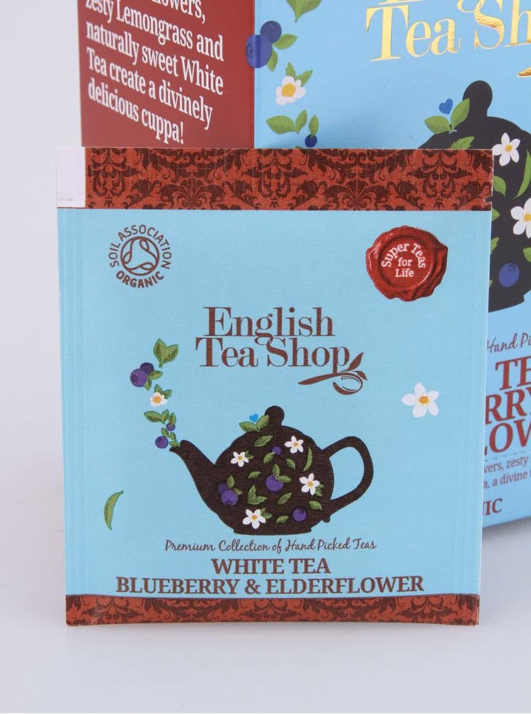 Biely čaj English Tea Shop Baza a Čučoriedka Bio