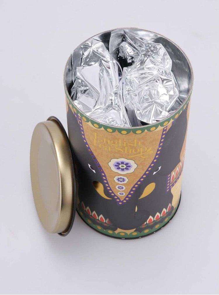 Dárkové balení bílého sypaného čaje v dóze English Tea Shop Bezinka