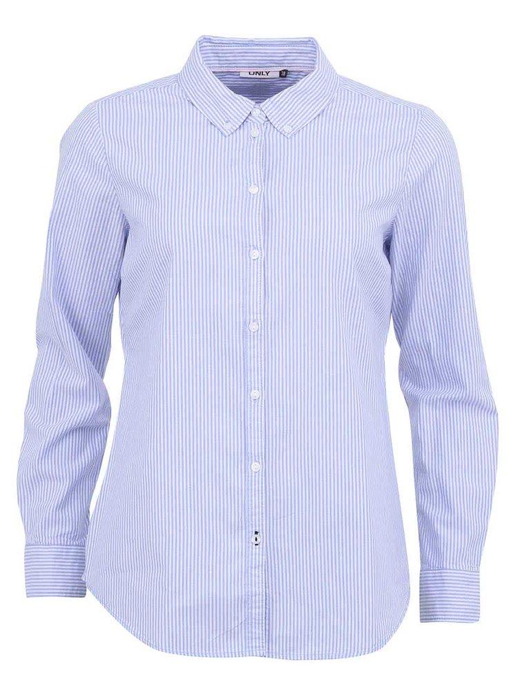 Modrá prúžkovaná voľnejšia košeľa ONLY Cici