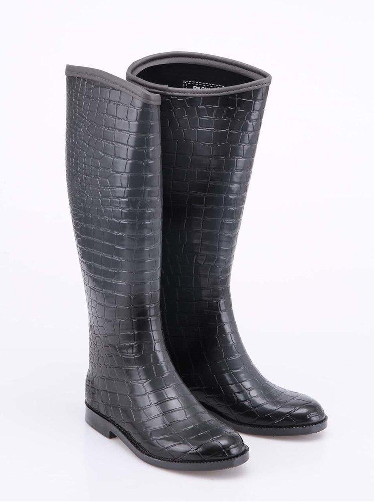 Sivé krokodílie gumáky Be Only Cavaliee Croco