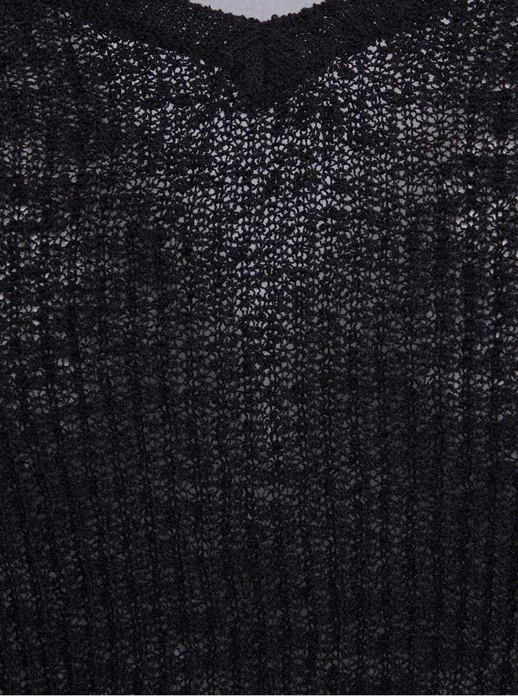"""Černý svetr s výstřihem do """"V"""" VERO MODA Rozanna"""