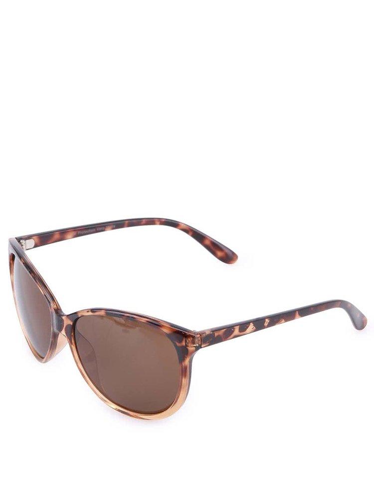 Hnedé leopardie slnečné okuliare VERO MODA Indian Tan