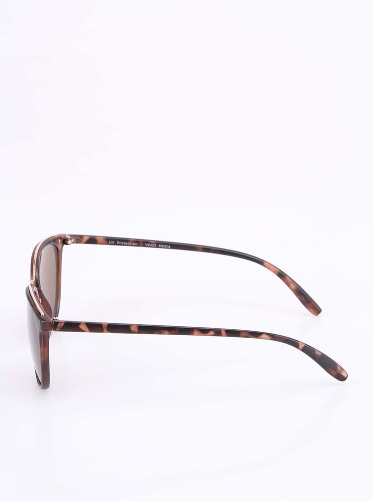 Hnedé leopardie slnečné okuliare VERO MODA Chipmunk