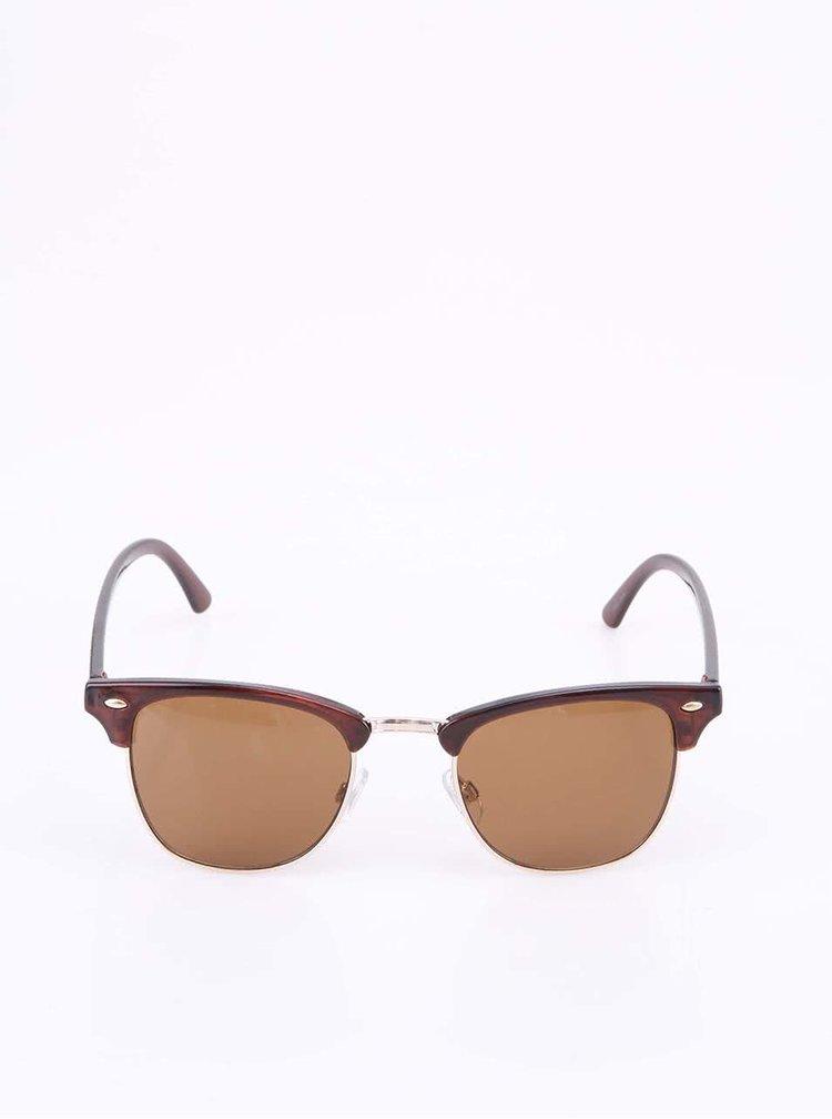 Hnedé slnečné okuliare VERO MODA Iron Gate