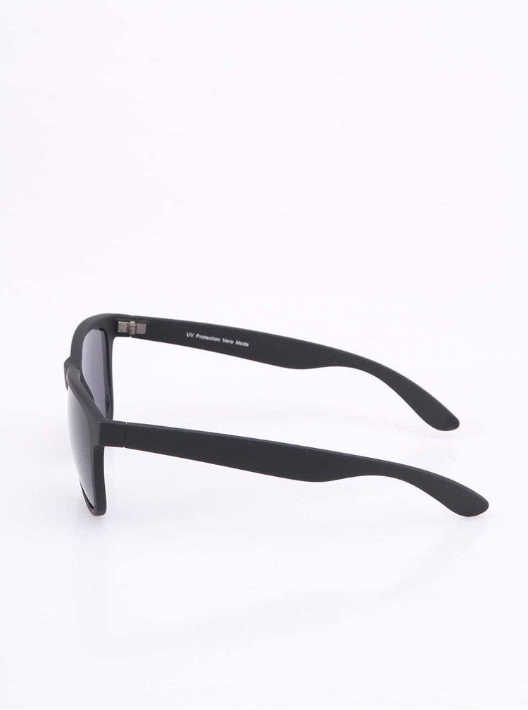Černé matné sluneční brýle VERO MODA Urban Chic