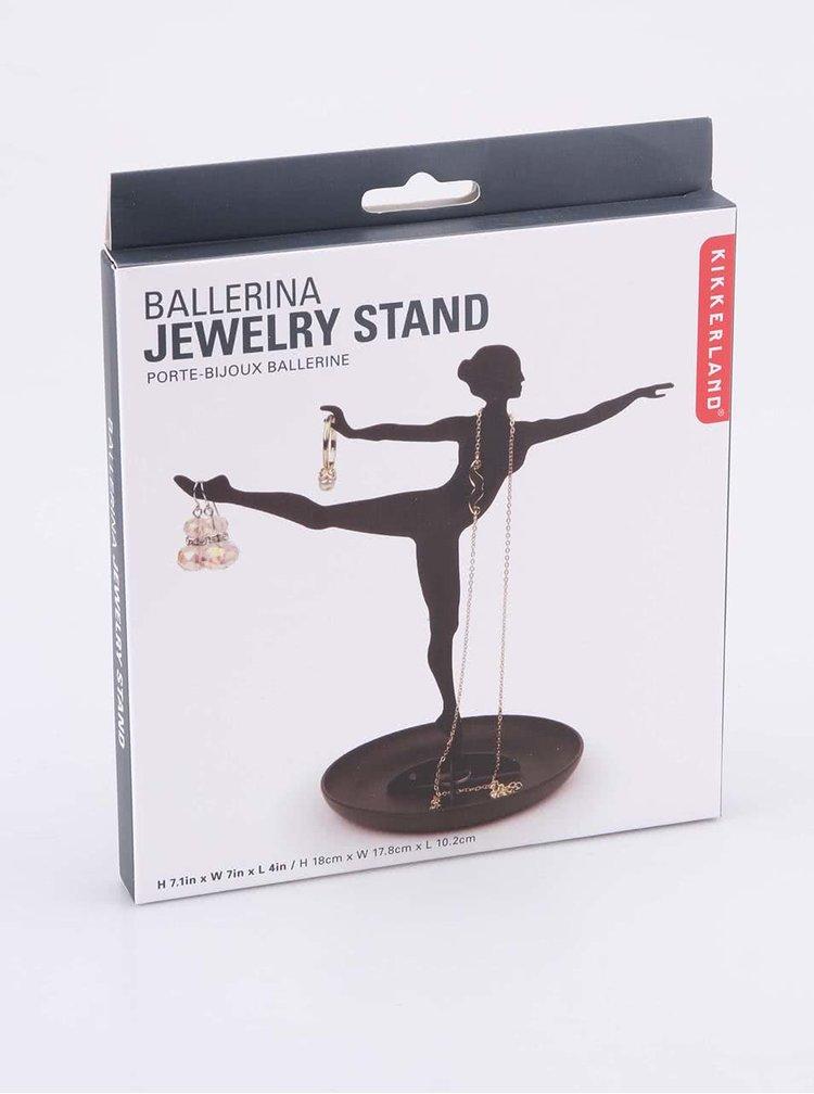 Suport negru de bijuterii Kikkerland Ballerina