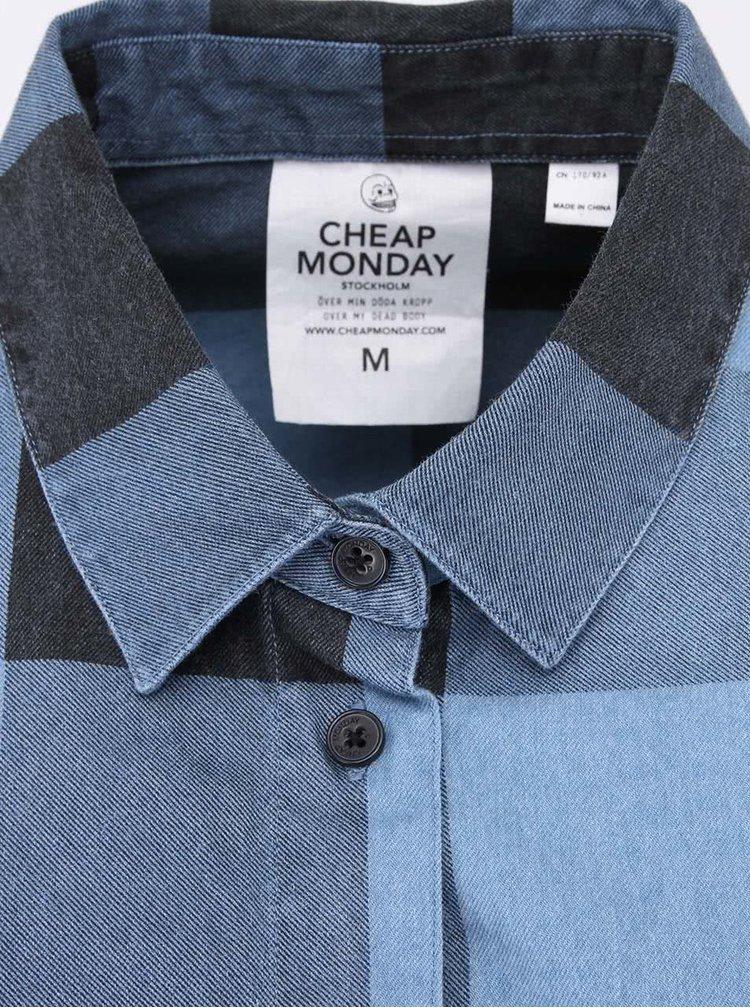 Černo-modrá dámská kostkovaná košile Cheap Monday Chess