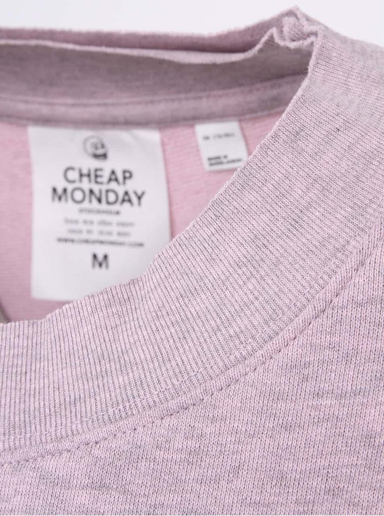 Růžovo-šedá dámská krátká mikina Cheap Monday Expand