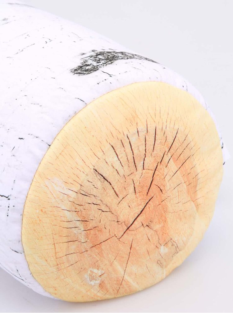 Bílý polštář ve tvaru polínka Kikkerland