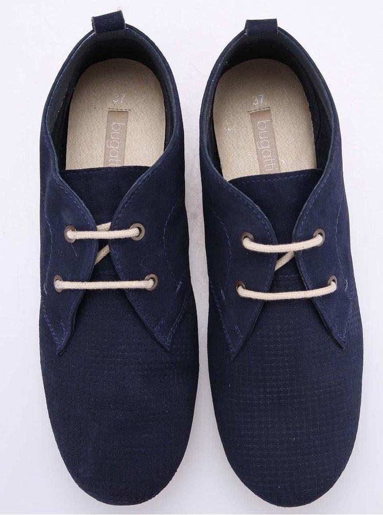 Pantofi de damă Bugatti cu șiret, de culoare navy