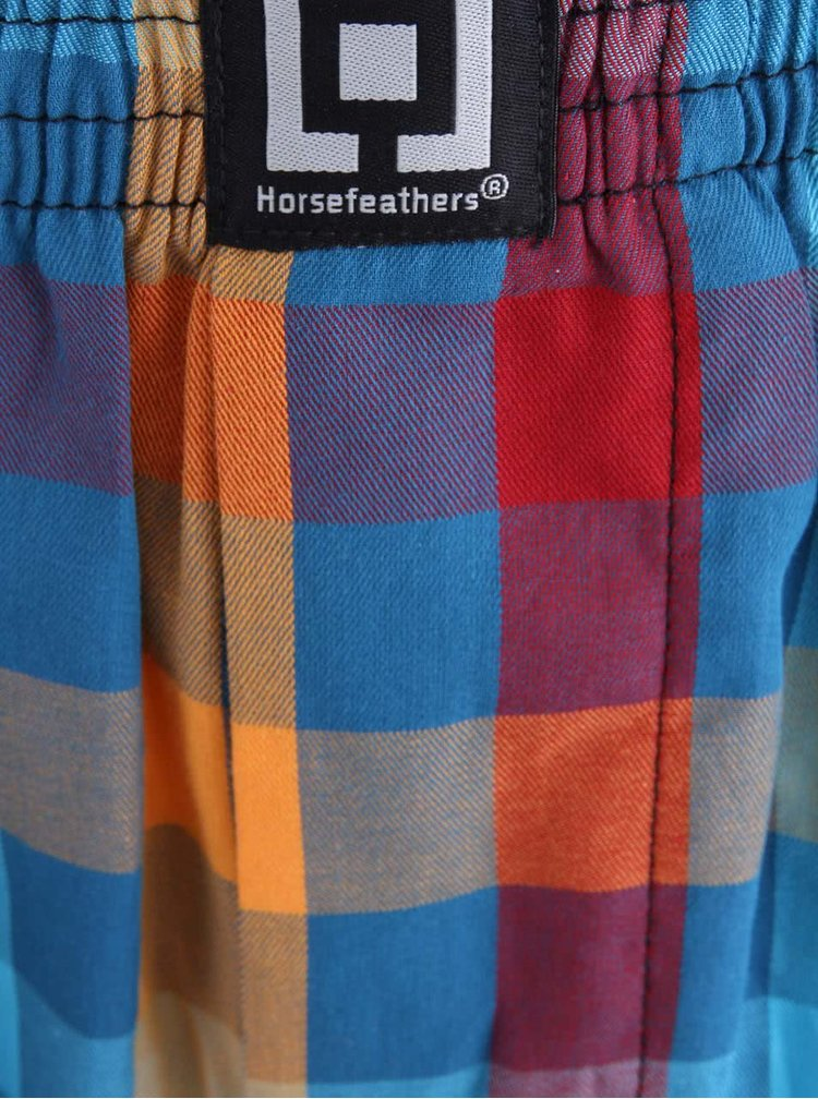 Barevné kostkované trenýrky s modrými pruhy Horsefeathers Sin