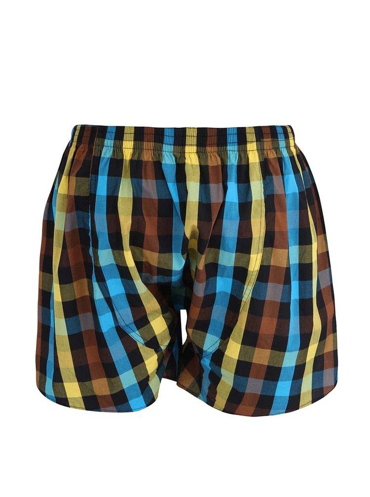Pantaloni scurți maro Horsefeather Sin din bumbac cu model în carouri