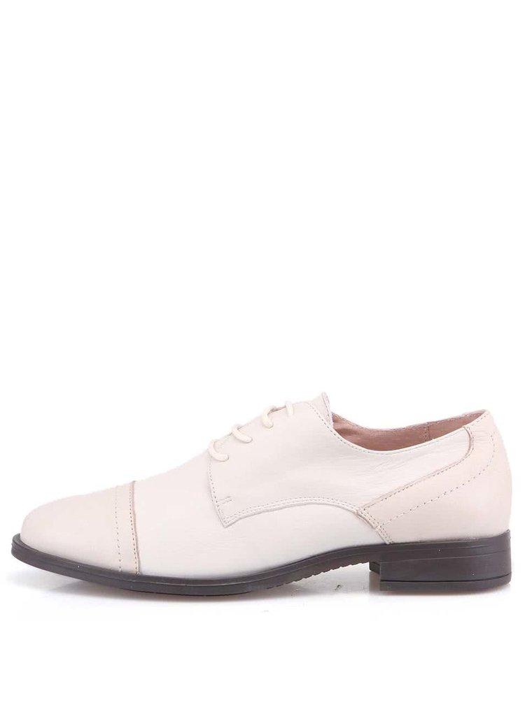 Pantofi din piele crem OJJU