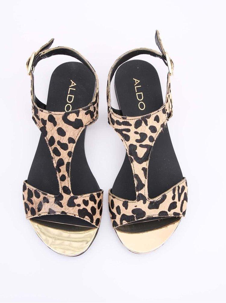 Leopardí kožené sandálky ALDO Tassie