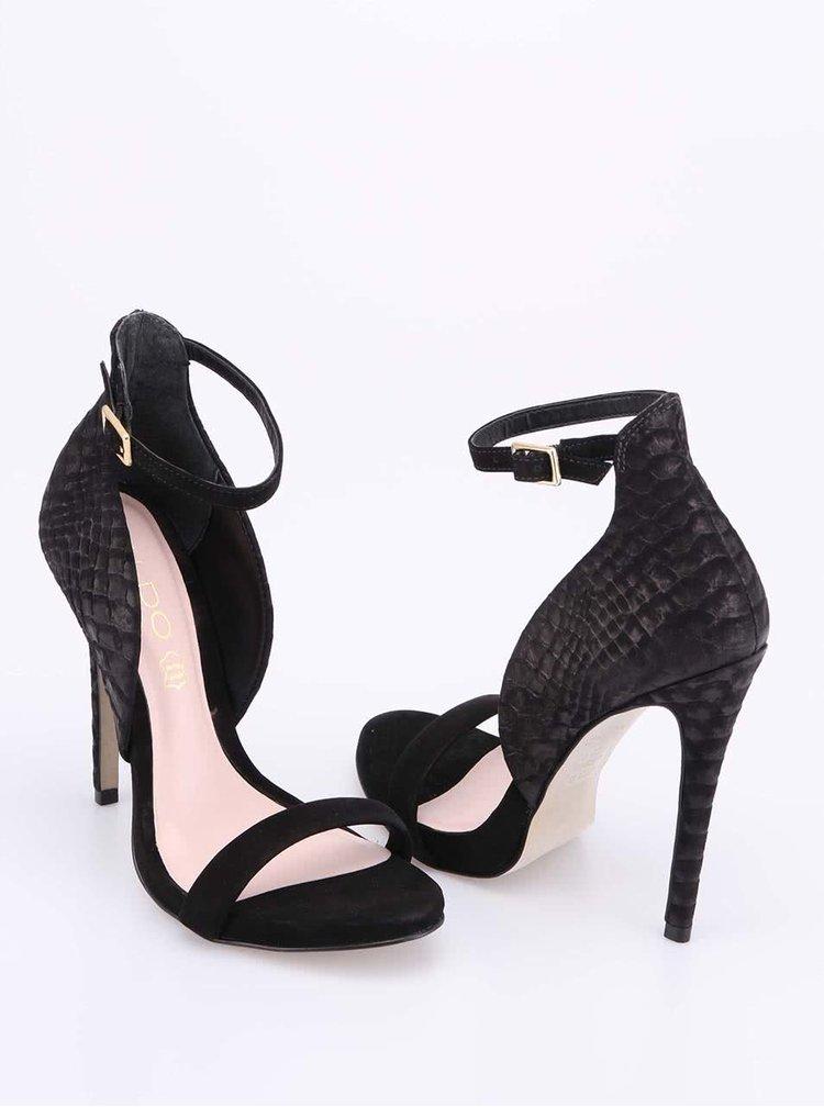 Černé sandálky na podpatku ALDO Creisa