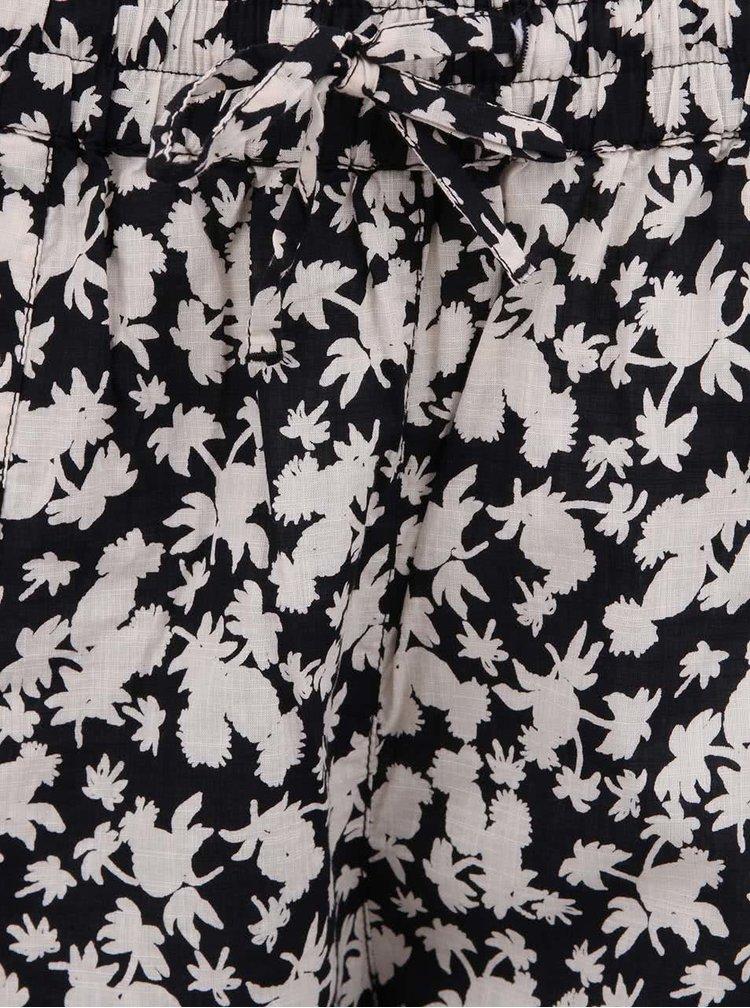 Černo-bílé volné kalhoty Maison Scotch