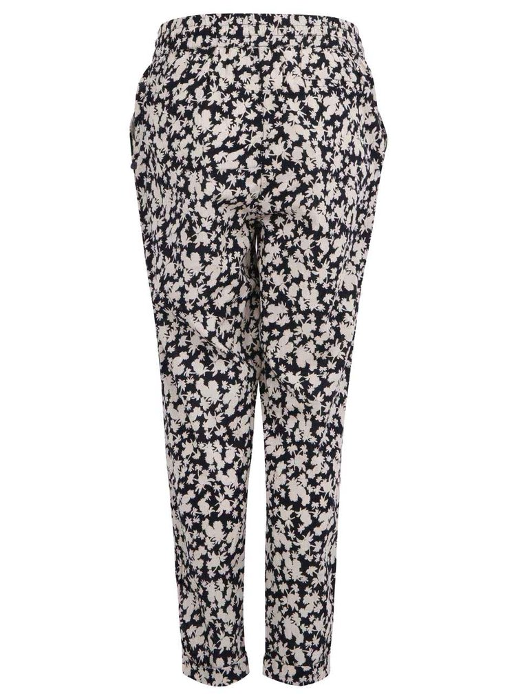 Čierno-biele voľné nohavice Maison Scotch