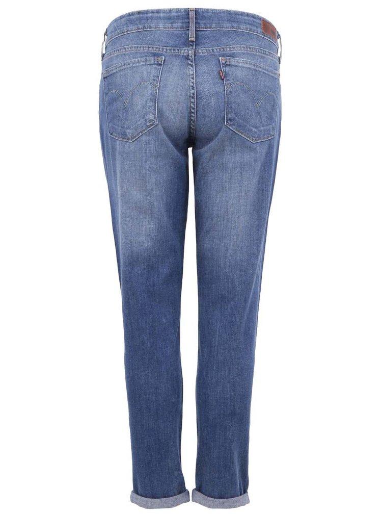 """Modré dámské skinny džíny s """"potrhaným"""" efektem na kolenou Levi's®"""