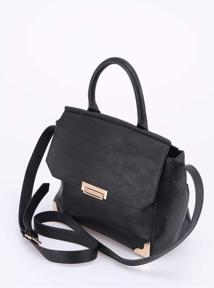 Černá kabelka Pieces Aja
