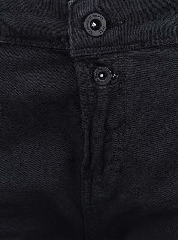 Čierne nohavice s vyšším pásom ONLY Lise