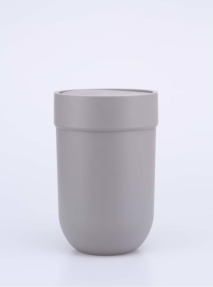 Sivý odpadkový kôš s vekom Umbra Touch