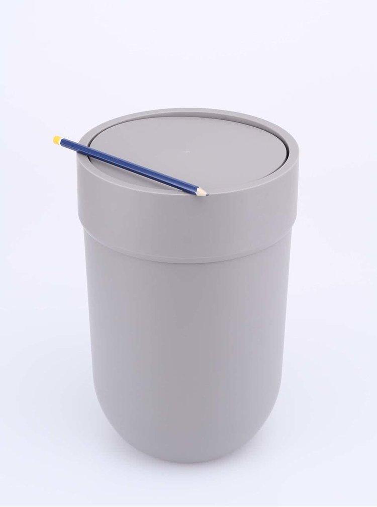 Šedý odpadkový koš s víkem Umbra Touch