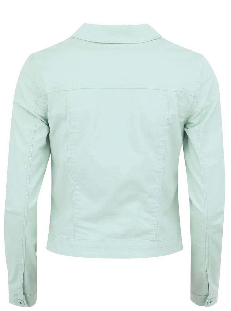 Světle zelená džínová bunda VERO MODA Soya