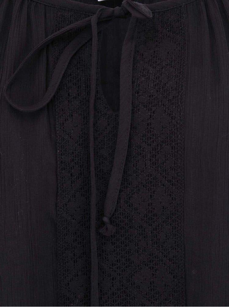 Černá halenka s dlouhými rukávy VERO MODA Marianna