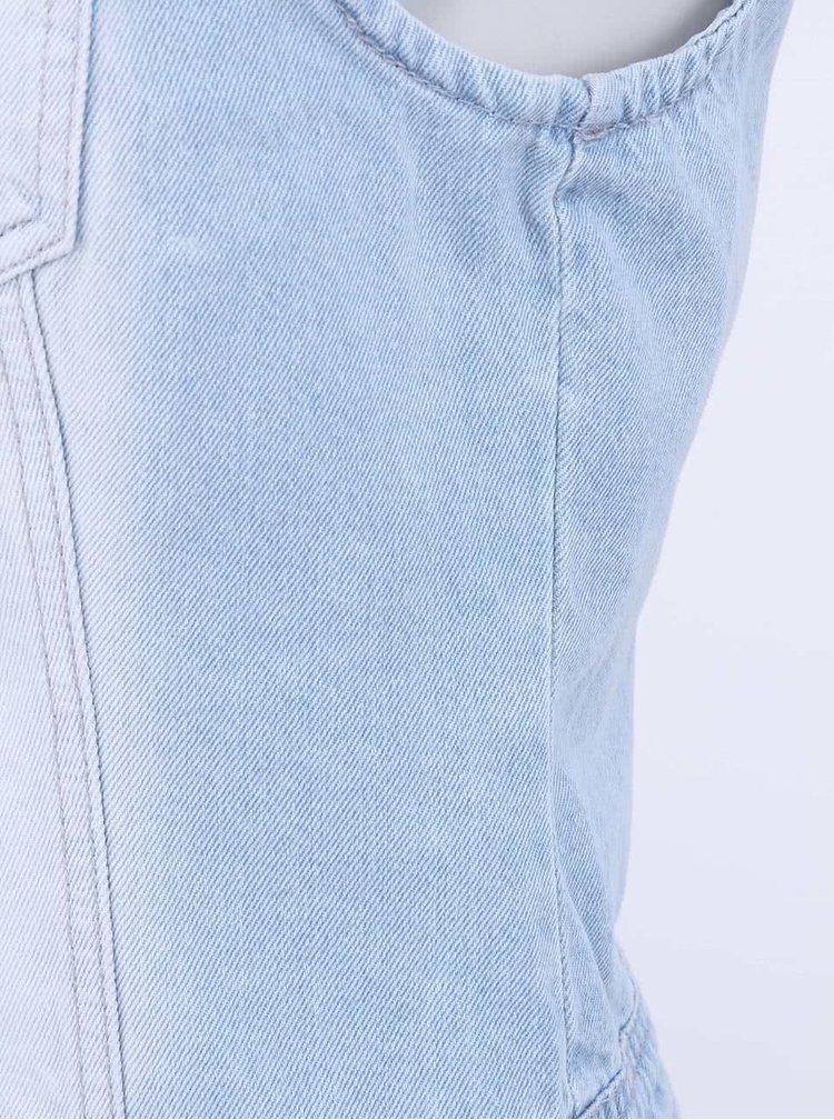 Světle modrá džínová vesta VERO MODA Nice