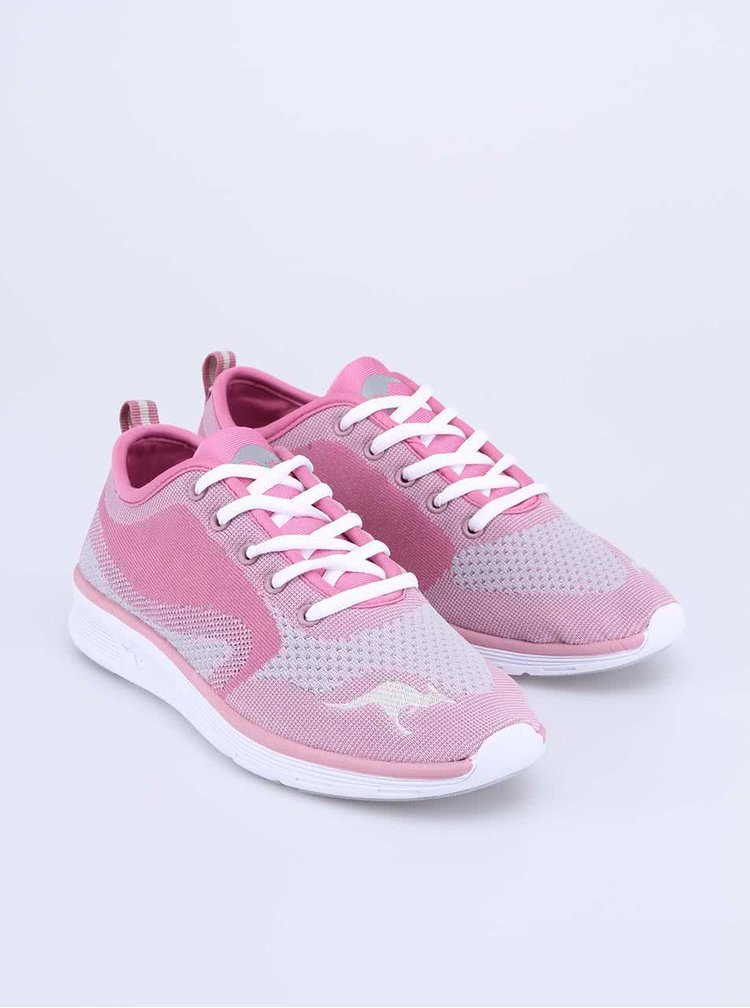 Růžovo-šedé dámské sportovní tenisky KangaROOS K-Light
